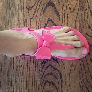 Pink Bow T-Strap Oka-B Sandal